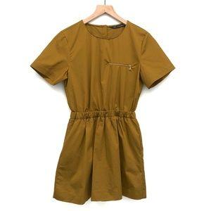 Zara Trafaluc Gold Brown Romper w/ Skirt - Size S